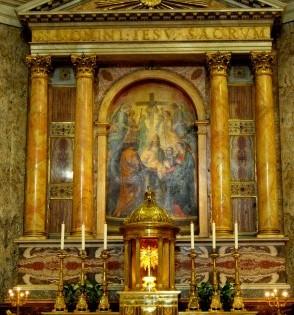 Altare maggiore: dipinto della circoncisione