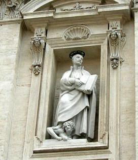 Statua di sant'Ignazio (facciata)