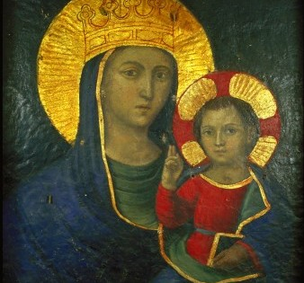 Affresco della Madonna della Strada (prima del restauro)