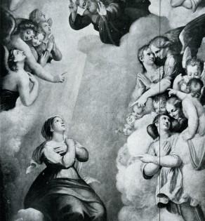 Cappella della Madonna della Strada: la Vergine in Cielo