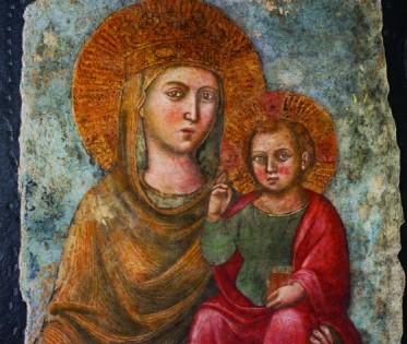 Immagine della Madonna della Strada restaurata