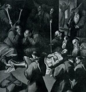 Cappella del Sacro Cuore: la morte di S. Francesco