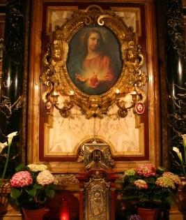 Cappella Sacro Cuore: dipinto su rame
