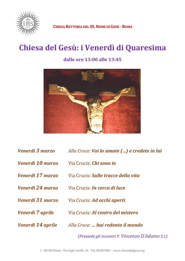 Quaresima 2017 chiesa del gesu