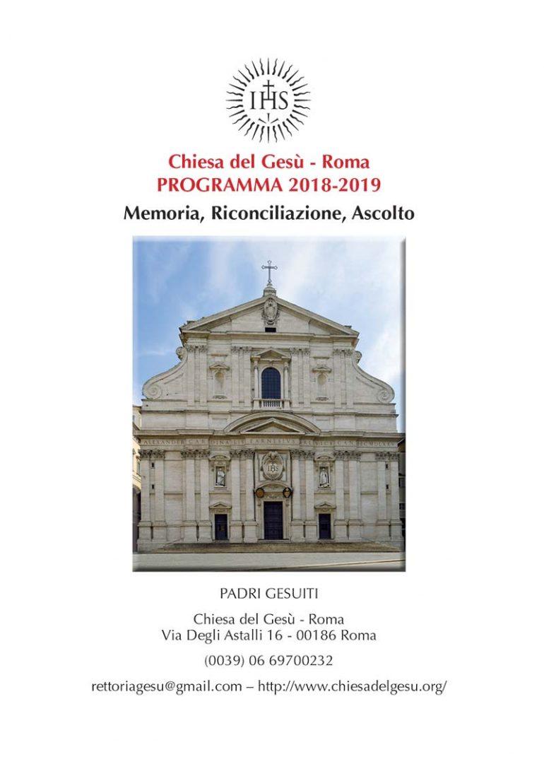 Programma Chiesa del Gesù 2018/2019