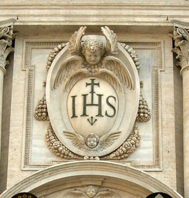 stemma facciata chiesa del gesu