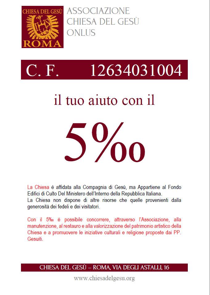 5x1000 Chiesa del Gesù